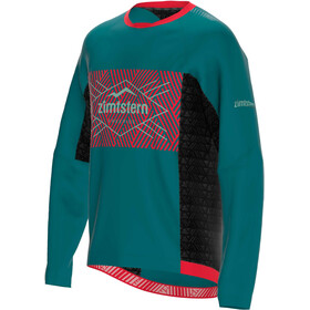 Zimtstern TechZonez T-shirt Manches longues Homme, pacific green/cyber red/granite green
